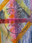 Nr. 2018-52; Mädchen, Pastellkreide, A4, Zeichenkarton