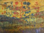 Nr. 2018-54; Blumen, Tusche/Aquarell, A3, Zeichenkarton
