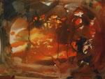 Nr. 2018-84; Inferno?, Aquarell, 36x48, Zeichenkarton