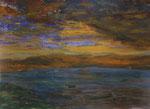 Nr.2019-11; Sonnenaufgang, Acryl, gespachtelt, 36x48, Zeichenkarton