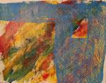 Nr. 2019-42; Farbenspiel 1, Acryl, gespachtelt, 24x30, Zeichenkarton