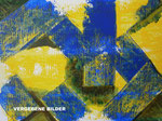Nr.: 2018-21; Blau und Gelb, Acryl, gespachtelt, A3, Zeichenkarton