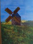 Nr. 2019-22; Mühle bei Telgruc sur Mer, Acryl, 30x40, Leinwand