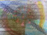 Nr. 2018-46; Farbenspiel in Pastell 3, Pastellkreide, A4, Zeichenkarton
