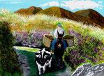 Andata ai campi - Olio su tela - 50 x 70 cm - 2004  (opera disponibile)