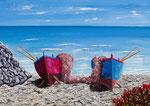 Barche nell'azzurro - Olio su tela - 50 x 70 cm - 2010