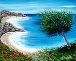 Costa ionica - Olio su tela - 40 x 50 cm - 2008