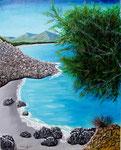 Il mare di Villasimius - Olio su tela - 80 x 100 cm - 2006  (opera disponibile)