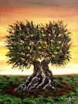 Incontro al crepuscolo - Olio su tela - 30 x 40 cm - 2011