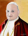 Omaggio a Papa Giovanni XXIII - Olio su tela  - 24 X 30 cm. - 2008