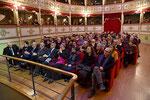 Lecce, 17 dicembre 2015 - Altra inquadratura fotografica che mette in risalto la bellezza di questo teatro. ( Italphoto Mesagne )