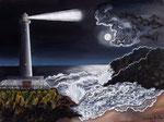 La luna e il faro - Olio su tela - 30 x 40 cm - 2011  (opera disponibile)