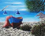 Luce, colori e suoni del mio mare - Olio su tela - 40 x 50 cm - 2013 (opera disponibile)