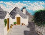Scorcio di Alberobello  -   Olio su tela  -  80 x 100 cm -  2006  (opera disponibile)