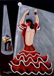 La ballerina di flamenco - Olio su tela - 50 x 70 cm - 2006