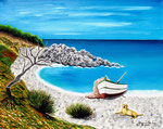 Spiaggia - Olio su tela - 40 x 50 cm - 2008 - ( collezione privata )