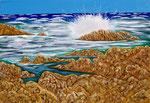 Mareggiata a Portobello di Gallura - Olio su tela - 70 x 100 cm