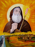 Il Santo e il ponte - Olio su tela 30 x 40 cm - 2007