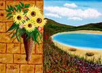 Scorcio mediterraneo 2 - Olio su tela - 50 x 70 cm - 2005 ( collezione privata )