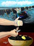 Le cozze di Taranto - Olio su tela - 50 x 70 cm -  2004