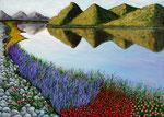 Colori e armonie di un paesaggio canadese - Olio su tela - 50 x 70 cm - 2006