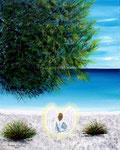 La spiaggia dell'angelo - Olio su tela - 40 x 50 cm - 2008 (opera disponibile)