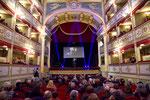 """Lecce, 17 dicembre 2015 - L'interno del prestigioso Antico Teatro """"Giovanni Paisiello"""" nel cuore di Lecce. ( Italphoto Mesagne )"""