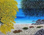 Verso l'immenso blu, con gioia nell'anima - Olio su tela - 80 x 100 cm - Anno 2013
