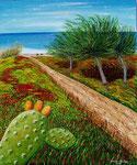 Il sentiero che porta al mare - Olio su tela - 50 x 60 cm - 2007 ( disponibile )