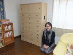 山県市より修理依頼の桐箪笥を納品してきました。