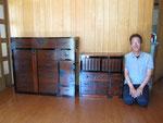 江南市より修理依頼の時代箪笥と小箪笥を納品してきました。