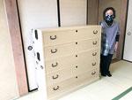 関市内より修理依頼の桐タンスを納品してきました。