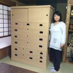 垂井町に修理依頼の桐タンス納品