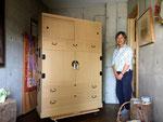 名古屋市より修理依頼のあった桐タンスを納品