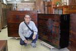 兵庫県加東市より持ち込み引き取り頂いた修理した時代箪笥です。