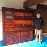 養老町に修理依頼の水屋戸棚を納品