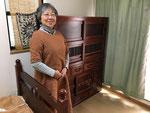 名古屋市より修理依頼を頂いた水屋戸棚の納品です。