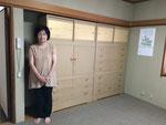 名古屋市に修理依頼の桐タンス夫婦納品