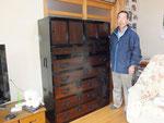 加茂郡七宗町に時代箪笥を納品してきました。