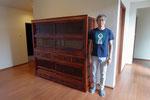 大垣市より修理依頼の水屋戸棚を納品してきました。