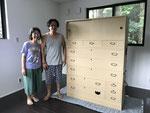 岡崎市より修理依頼の桐タンスを納品してきました。