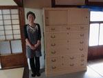 名古屋市より修理依頼の総桐箪笥を納品して来ました。