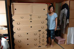 岐阜市より修理依頼の桐たんすを納品して来ました。