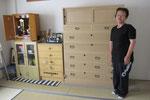 美濃加茂市より修理依頼の桐タンスを納品して来ました。