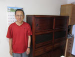 岐阜市より修理依頼の水屋戸棚を納品してきました。