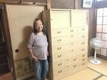 岐阜市より修理依頼の桐タンスを納品してきました。