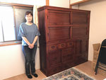 春日井市より修理依頼の水屋戸棚を納品してきました。