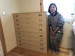 関市地元の方に当店製造の格安総桐箪笥を購入いただきました。
