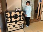 名古屋市より修理依頼の観音箪笥を納品してきました。