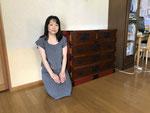 製造民芸箪笥を中津川市より来店くださり購入いただきました。